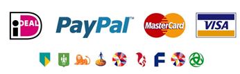 veilig betalen met ideal/paypal/creditcard